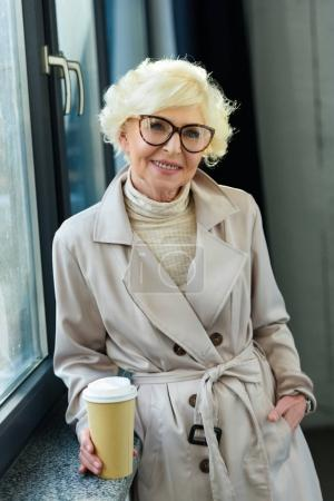 senior woman with coffee