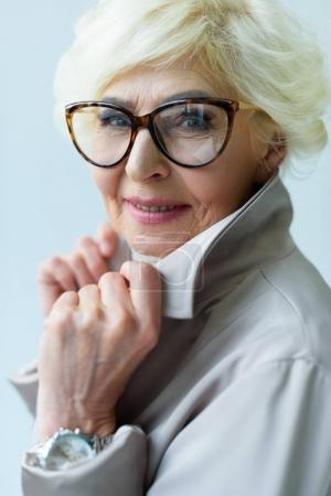 stylish senior lady