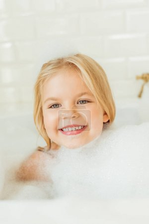 adorable child in bathtub