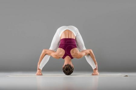 woman doing yoga exercise