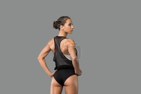beautiful girl in sportswear