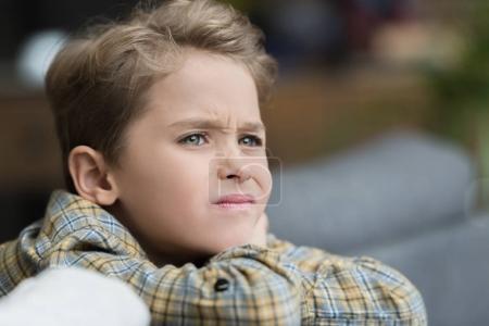little grumpy boy