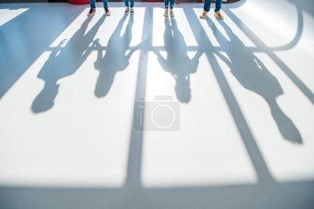 People and shadows