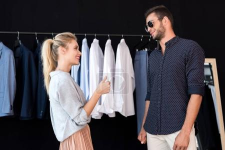 Couple in boutique