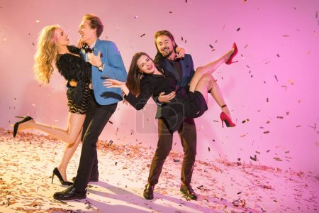 couples dancing on party