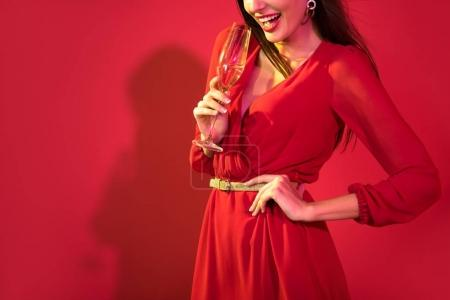 Glamorous woman with champagne