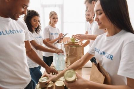 multiethnic group of volunteers