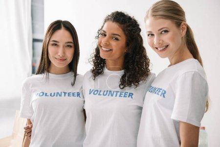 multiethnic female volunteers