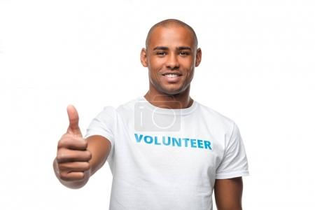 volunteer showing thumb up