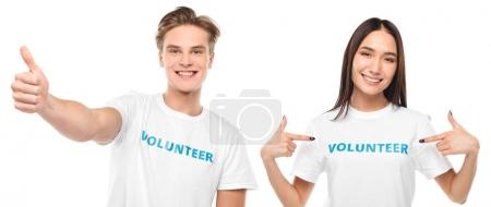 couple of happy volunteers