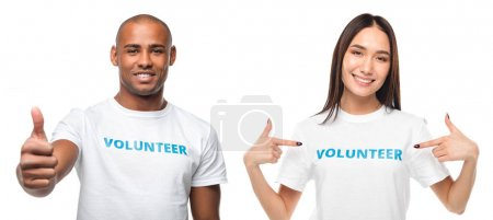 couple of young volunteers