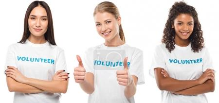 young female volunteers