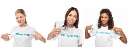 Freiwillige machen unterschiedliche Gesten