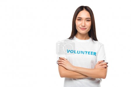 volunteer with crossed arms