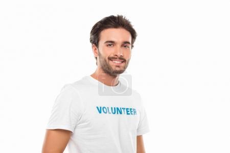 handsome young volunteer