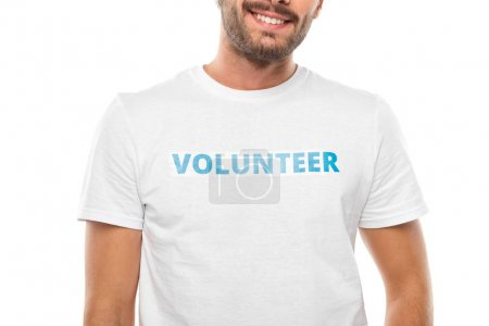 young smiling volunteer