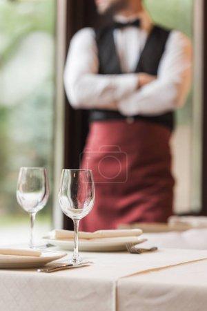 Empty shining wineglasses