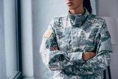 """Постер, картина, фотообои """"Одежда форменная военная с США флаг эмблема"""""""