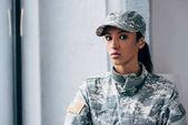 "Постер, картина, фотообои ""афро-американских женщина-солдат"""