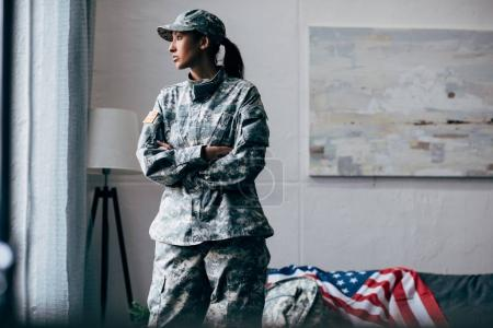 african american female soldier