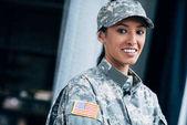 "Постер, картина, фотообои ""солдат с США флаг эмблема"""