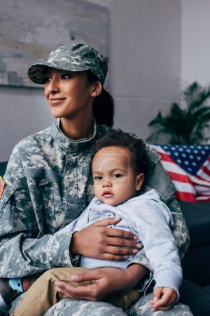 soldier with baby