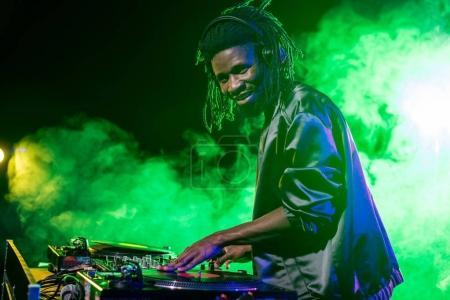 professional DJ in nightclub
