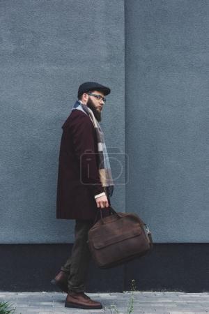 man in stylish autumnal clothing