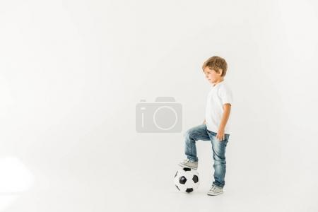 child with soccer ball