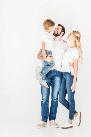 happy parents with little son