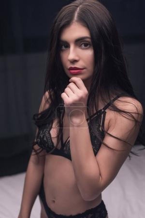sensual girl in sexy lingerie
