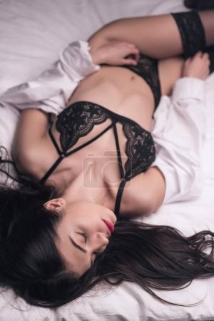 tender girl in sexy lingerie