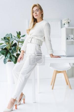 attractive elegant businesswoman
