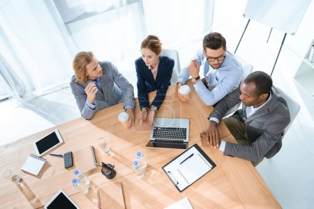 business team sitting at table and have discussion at office space