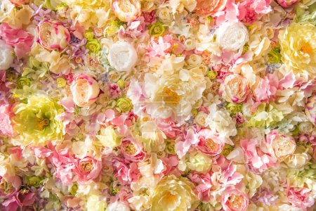 Photo for Beautiful floral background with tender elegant flowers - Royalty Free Image