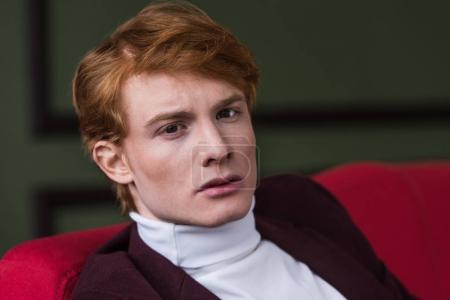 Portrait of male fashion model dressed in jacket