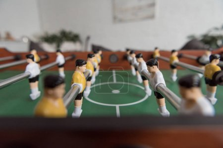 table football in modern living room
