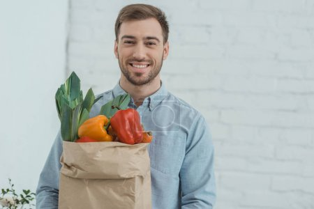 man with vegetables