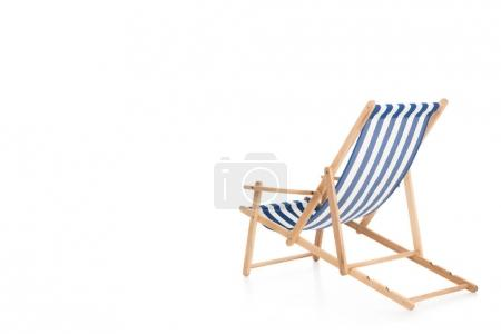 rear view of one beach chair, isolated on white