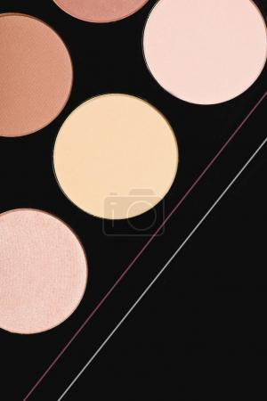 full frame shot of makeup blushes palette