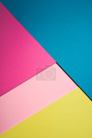 top view of colorful surfaces composition