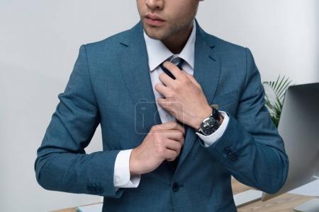 Handsome stylish businessman
