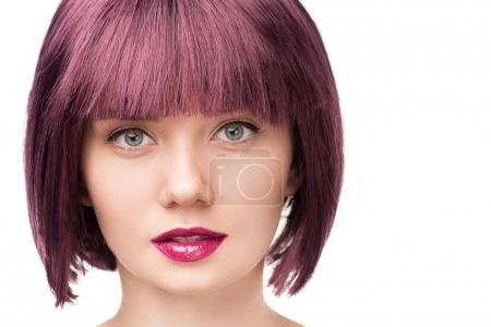 attractive girl with purple hair