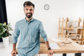 """Постер, картина, фотообои """"бизнесмен на рабочем месте в офисе"""""""