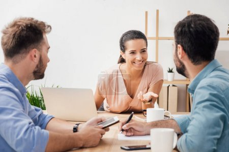 businesspeople on meeting in office