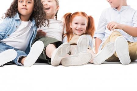 Happy multiethnic children