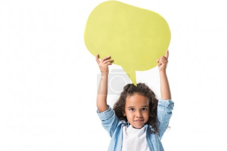 african american girl with speech bubble
