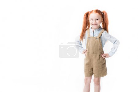 Adorable little red haired girl