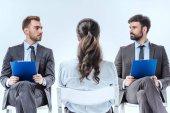 businesswoman at job interview