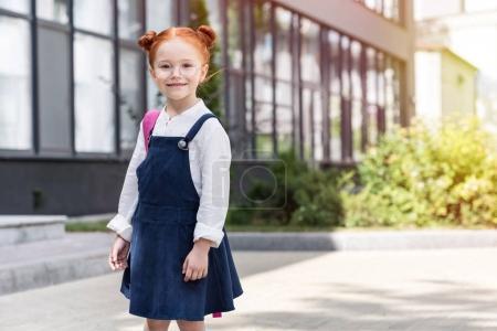 redhead schoolgirl in eyeglasses